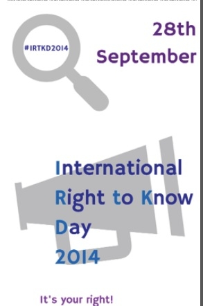 Announcement for the media regarding to International Day of Rights on access to information